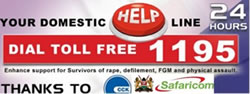 HAK runs a  24 hour Gender Based Violence Rapid Response Call Centre and the National GBV Toll Free Hotline 1195 which enhances  survivors' access to  Sexual and Gender Based Violence services 24 hours in 47 counties.